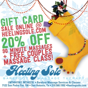 Gift Card Sale 20% off + Free Couples Massage Class