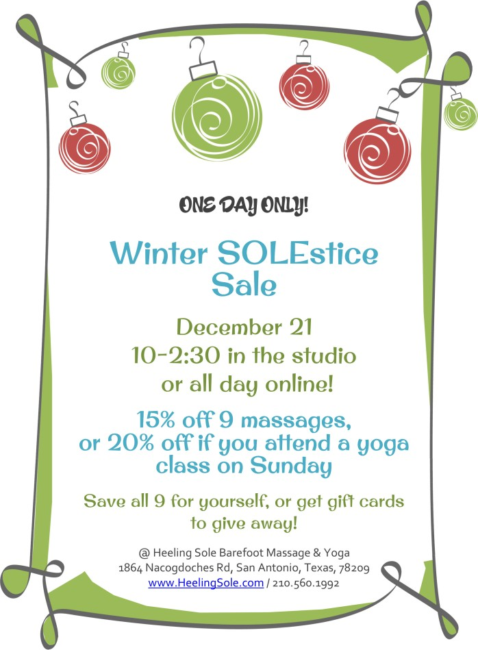 solstice massage sale